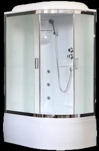 RB8120BK2-M-CH-L Душевая кабина Royal Bath RB8120BK2-M-CH 120 x 80 x 217 см L/R, двери матовые, задние стенки белые, хром