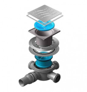 13000080 Трап водосток Pestan Confluo Standard Tide 3 Mask 150*150 мм нержавеющая сталь с рамкой