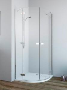 384002-01-01L/384001-01-01R Душевой уголок Radaway Fuenta New PDD 90 x 80 см, стекло прозрачное