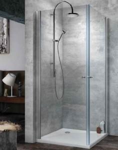 Terra Flat TKK/E 100 Душевой уголок Kolpa-San, 100 x 100 х 200 см, стекло прозрачное