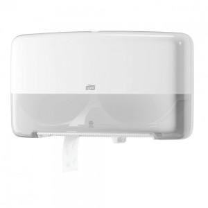 Двойной диспенсер для туалетной бумаги Tork Singlefold 555500 в мини-рулонах , белый