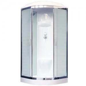 RB100HK6-WC-CH Душевая кабина Royal Bath 100 x 100 x 217 см, двери матовые, задние стенки белые