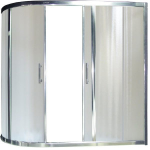 RB150AZUR-C левая Шторка на ванну  Royal Bath Azur RB150AZUR-C 150 x 80 x 150 см, стекло матовое, левая/правая