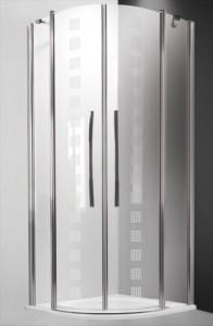 702-900E000-00-17 Душевой уголок Roltechnik Tower Line, TR2/900 Design Plus 90 х 90 см, стекло прозрачное узорчатое