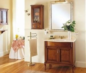 Комплект мебели для ванной комнаты Labor Legno VICTORIA Composizione H 105, орех/бронза, 90 см