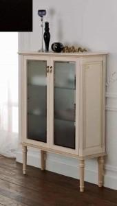 Шкаф напольный Labor Legno MILADY MIL 0/12 N, с 2 створками, черный 47,5*35*124 см