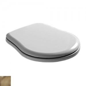109301 bi/br Крышка-сиденье Kerasan Retro 109301 standart, белый/бронза