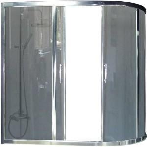 RB150AZUR-G левая Шторка на ванну  Royal Bath Azur RB150AZUR-G 150 x 80 x 150 см, стекло серое, левая/правая