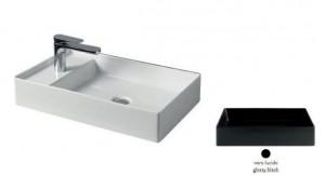 SCL003 03;00 Раковина ArtCeram Scalino 60, накладная, цвет - черный глянцевый, 60 х 38 х 11,5 см