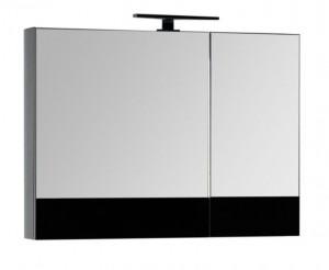Зеркало-шкаф Aquanet Верона 90 (камерино) 00172340, цвет черный