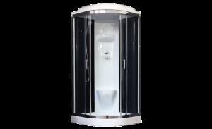 RB100HK6-BT-CH Душевая кабина Royal Bath 100 x 100 см, двери прозрачные, задние стенки черные