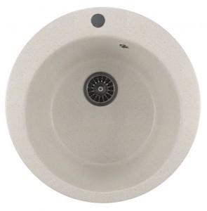 ML-GM13 (331) Кухонная мойка Mixline, врезная сверху, цвет - белый, 49.5 х 49.5 х 19 см