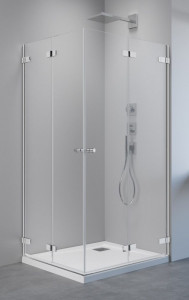 386162-03-01L/386162-03-01R Душевой уголок Radaway Arta KDD B с дверями типа Bi-fold, 100 х 100 см, стекло прозрачное