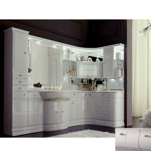 Комплект мебели Eurodesign Luxury Композиция № 5, Avorio Perlato/Аворио жемчужный