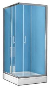 TKK 80x90 (TK80+TK90) Душевой уголок Kolpa-San Q-line TKK 90 x 80 см, стекло прозрачное