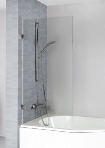 GQ0103201 Стеклянная шторка для ванны Riho Scandic Soft Q107 80 x 150 см, левая