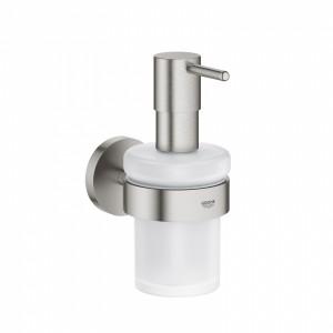 40448DC1 GROHE Essentials Дозатор для жидкого мыла 160 мл в комплекте с держателем, суперсталь