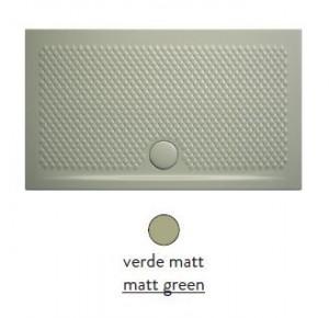 PDR017 26; 00 Поддон ArtCeram Texture 90 х 70 х 5,5 см,, прямоугольный, цвет - verde matt (светло-зеленый), из искусственного камня