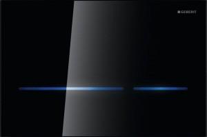 116.090.SG.1 Клавиша Geberit Sigma Type 80, бесконтактная, для двойного смыва, черное стекло