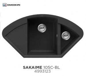 4993123 Мойка кухонная Omoikiri Sakaime 105C-BL черная