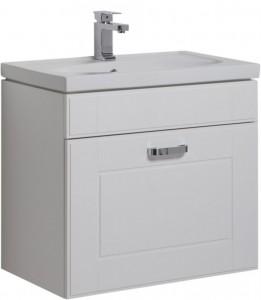 189158 Тумба под раковину Aquanet Рондо 60 1 ящик, белый, 00189158