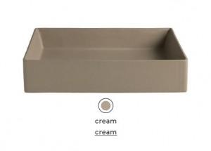 SCL001 22; 00 Раковина ArtCeram Scalino 38, накладная, цвет - cream (бежевый), 38 х 38 х 11.5 см