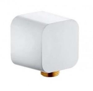 6554343-00 Угловое соединение Kludi A-Qa для шланга с защитой от обратного тока воды, цвет белый