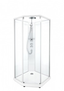 Душевая кабина IDO Showerama 10-5 Comfort, 100 x 100 см, стекло прозрачное, профиль белый