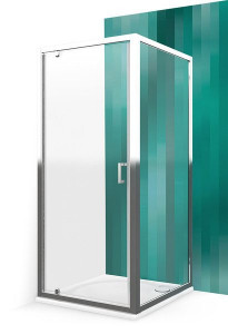 551-8000000-00-02/553-9000000-00-02 Душевой уголок Roltechnik Lega Line, 80 х 90 см, дверь распашная, стекло прозрачное