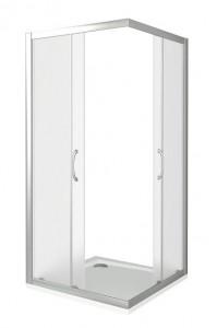 ЛА00021 Душевое ограждение Good Door Latte CR-100-G-WE 100 х 100 х 185 см,, стекло матовое Грейп, белый