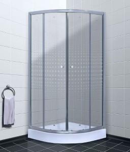 TL-1101 R Душевой уголок Timo Romb Glass, стекло прозрачное с узором, 100 х 100 х 200 см