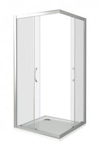 ЛА00007 Душевое ограждение Good Door Latte CR-100-C-WE 100 х 100 х 185 см,, стекло прозрачное, белый
