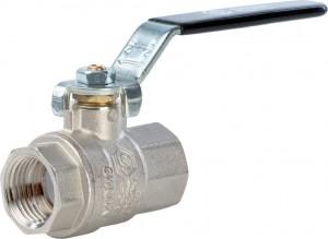 SVB-0001-000015 Шаровый кран Stout SVB-0001 1/2 вн-вн, полнопроходной, ручка рычаг