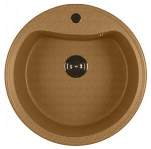 ML-GM09 (302) Кухонная мойка Mixline, врезная сверху, цвет - песочный, 49 х 49 х 18.5 см