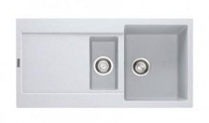 114.0201.289 Мойка Franke MARIS MRG 651,, гранит, установка сверху, оборачиваемая, цвет белый, 97*50 см