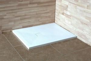 16152810-01 Душевой поддон RGW ST-0108W 80 x 100 см, прямоугольный, цвет белый, из искусственного камня