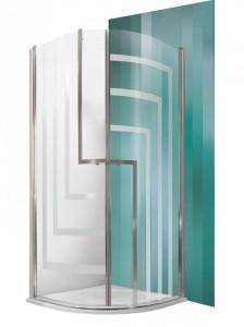 701-9000000-00-17 Душевой уголок Roltechnik Tower Line, TR1/900 Design Plus 90 х 90 см, стекло прозрачное узорчатое
