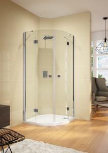 GP0407300 Душевой уголок Riho Polar P309 120 x 120 см L/R, стекло прозрачное, дверь двухстворчатая, хром