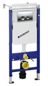 458.122.21.1 Инсталляция Geberit Duofix Delta Платтенбау UP100 для унитаза с клавишей, хром