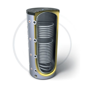 Буферная емкость с двумя теплообменниками Tesy PR2 300 л.
