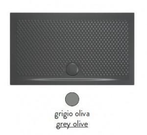 PDR022 15; 00 Поддон ArtCeram Texture 140 х 80 х 5,5 см,, прямоугольный, цвет - grigio oliva (серый), из искусственного камня