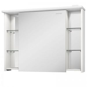 Зеркальный шкаф Edelform Marino 90, с LED-подсветкой, цвет: выбеленный дуб
