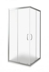 ИН00021 Душевое ограждение Good Door Infinity CR-100-G-CH 100 х 100 х 185 см,, стекло матовое Грейп, хром