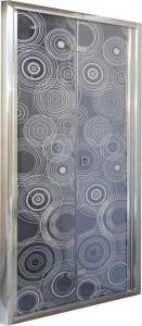 D81 Душевая дверь Cerutti 80x195 см в нишу складная, стекло тонированное