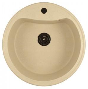 ML-GM09 (328) Кухонная мойка Mixline, врезная сверху, цвет - бежевый, 49 х 49 х 18.5 см
