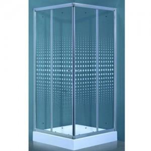 TL-8002 R Душевой уголок Timo Romb Glass, стекло прозрачное с узором, 80 х 80 х 200 см
