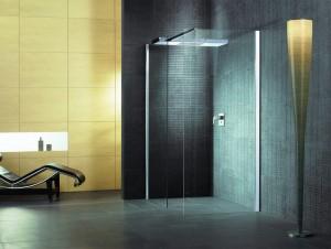 8628735.101 401 Душевой уголок с верхним душем Hoesch CIELA, правый/левый, 150 х 75 х 210 см, стекло прозрачное