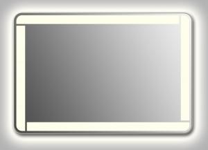 Зеркало Wenz Design QR-unix-LINE-contour-H скругленное / с контурной подсветкой