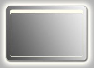 Зеркало Wenz Design QR-unix-TOP-contour-H скругленное / с контурной подсветкой