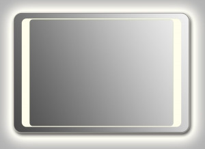 Зеркало Wenz Design QR-unix-HS-contour-H скругленное / с контурной подсветкой